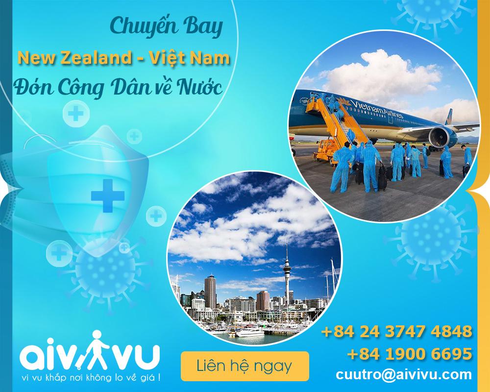 Vé máy bay từ New Zealand về Việt Nam