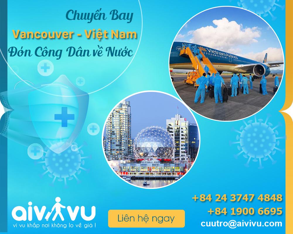 Vé máy bay từ Vancouver về Việt Nam