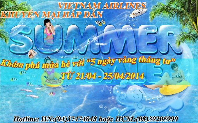 """Khám phá mùa hè với """"5 ngày vàng tháng tư"""" của Vietnam Airlines"""