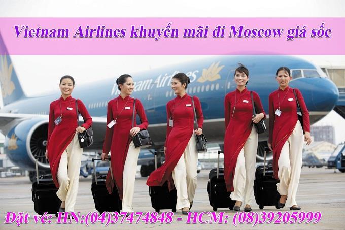 Vietnam Airlines khuyến mãi đi Moscow giá sốc