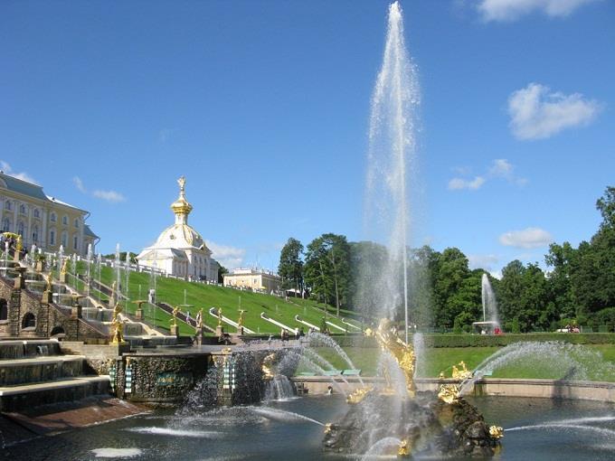 Trắng xóa cung điện Mùa Hè ở Nga