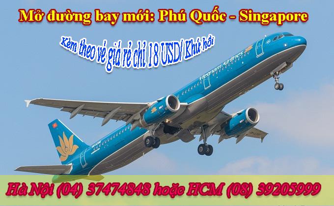Thông báo: đường bay mới Phú Quốc – Singapore