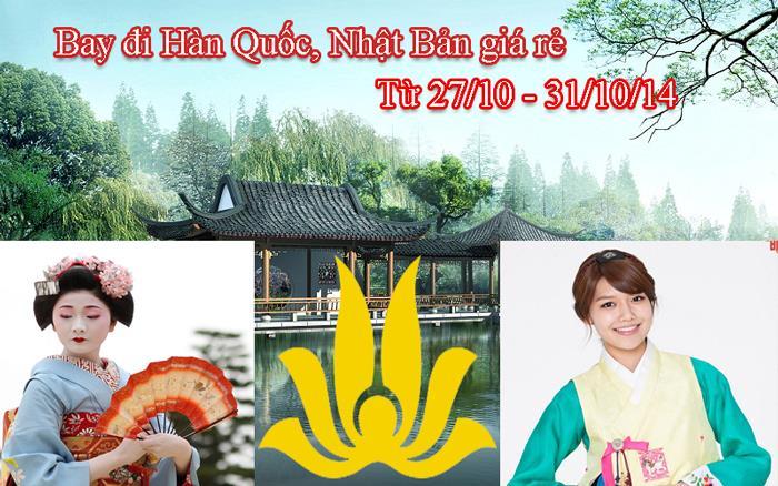 Bay đi Hàn Quốc, Nhật Bản giá rẻ