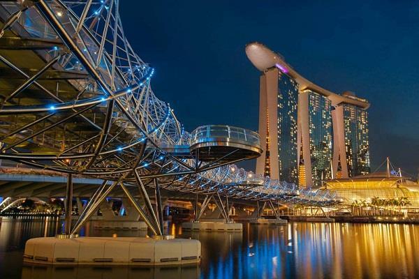 Cầu Helix - kiến trúc độc đáo của đảo quốc Singapore