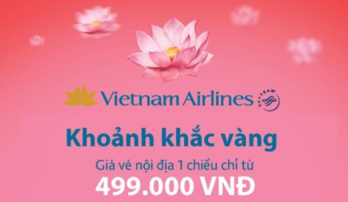 Vietnam Airlines khuyến mại khoảnh khắc vàng chỉ từ 499 000 VND
