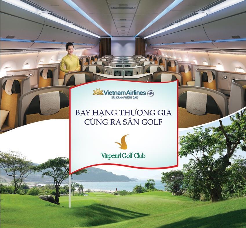 Khuyến mãi bay cùng thương gia cùng ra sân Golf