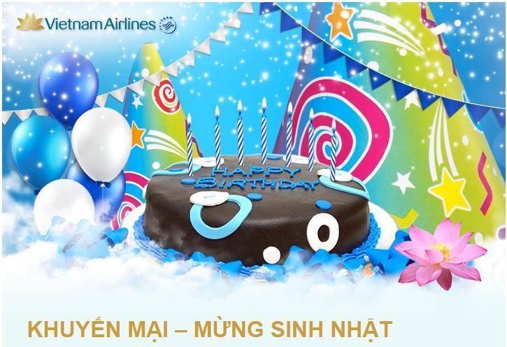 Vietnam Airlines khuyến mại mừng sinh nhật