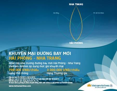 Ưu đãi giá vé đặc biệt đường bay Nha Trang – Hải Phòng