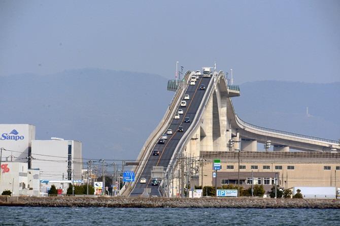 Thót tim với cây cầu dốc nhất thế giới