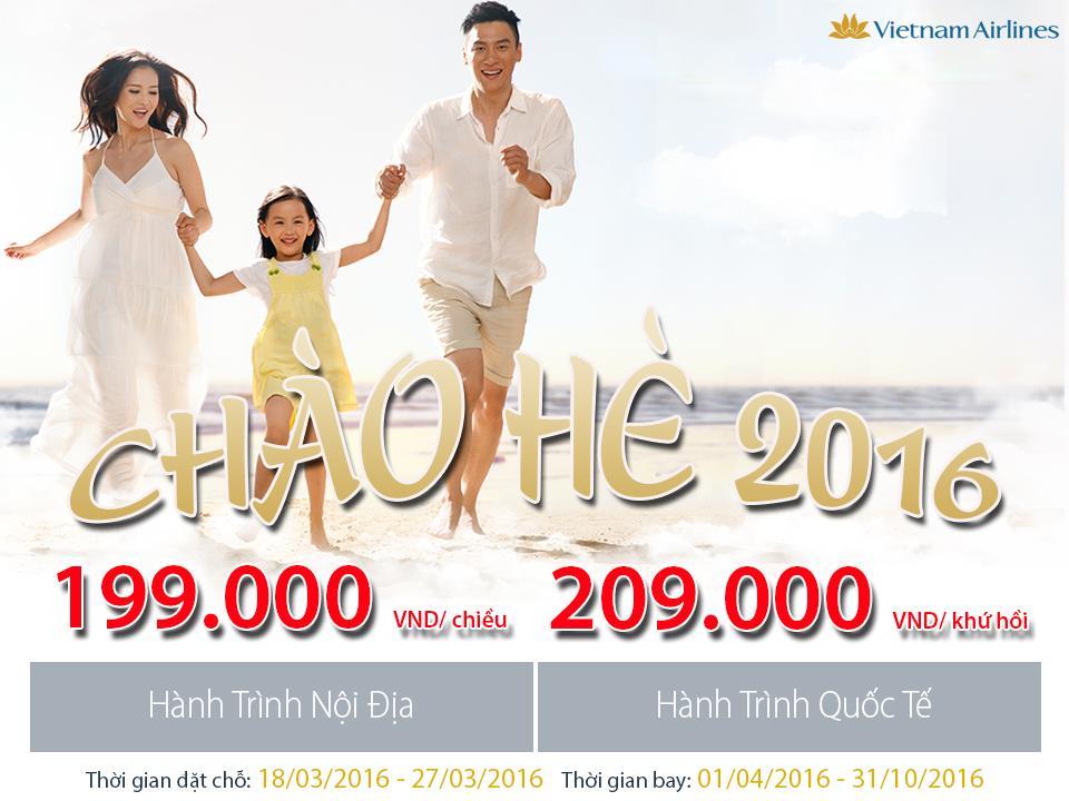 Vietnam Airlines siêu khuyến mãi chào hè 2016