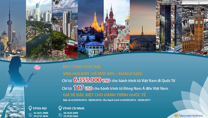 Vietnam Airlines khuyến mãi 5 ngày vàng giá rẻ