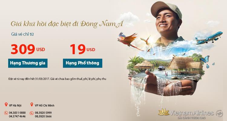 Khuyến mãi đi Đông Nam Á chỉ từ 19 USD