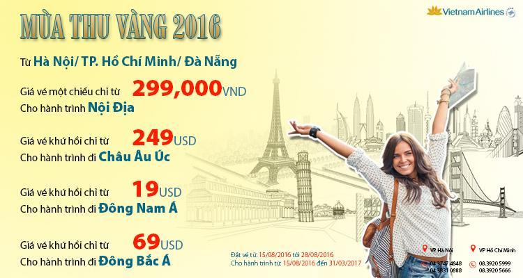 Mùa thu vàng giá rẻ 2016