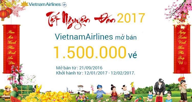 Vietnam Airlines rộn ràng bán vé tết 2017