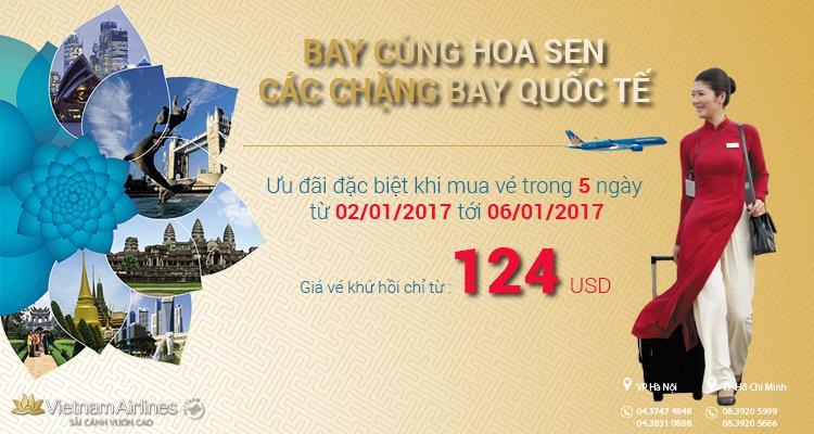 Bay cùng Hoa sen: Trải nghiệm bay quốc tế giá rẻ trong 5 ngày
