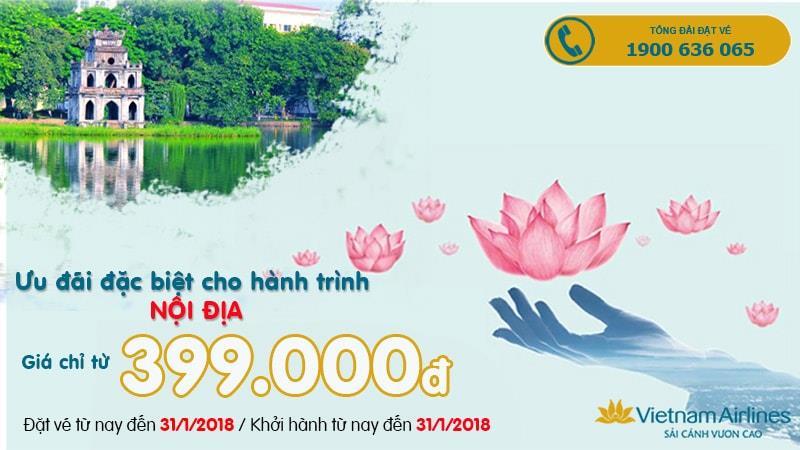 Cùng Vietnam Airlines du lịch Bắc Nam đến hết năm với ưu đãi bay nội địa chỉ từ 399.000.VND