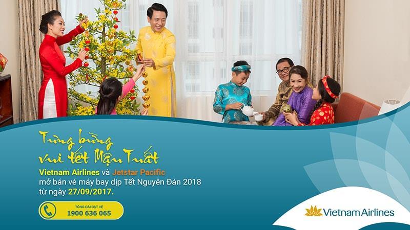 Vietnam Airlines triển khai bán vé bay dịp Tết 2018 bắt đầu từ hôm nay