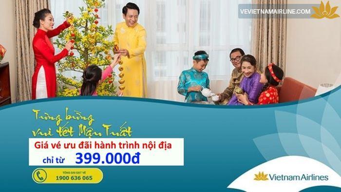 Vietnam Airlines mở bán vé Tết hành trình nội địa chỉ từ 399.000đ đến hết ngày 31/12/2017
