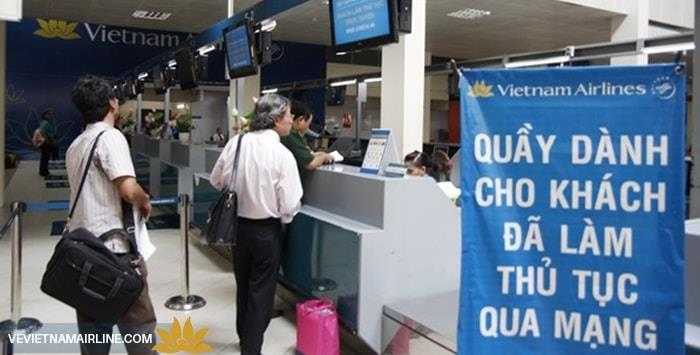 thủ tục check-in trực tuyến Vietnam Airlines