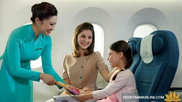 Quy định trẻ em đi máy bay của Vietnam Airlines