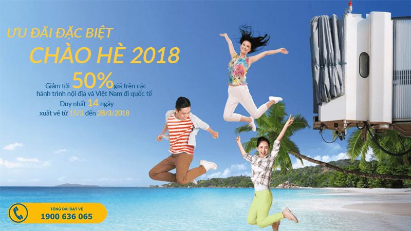 Vietnam Airlines ưu đãi đặc biệt giảm 50% giá vé cho các hành trình bay nội địa