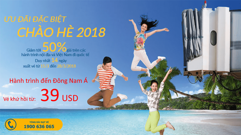 Cùng Vietnam Airlines du lịch Đông Nam Á với vé giảm 50% chỉ từ 39 USD