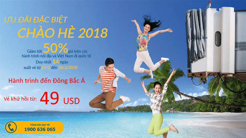 Đón hè thật rộn ràng với vé Vietnam Airlines chỉ từ 49 USD đi Đông Bắc Á