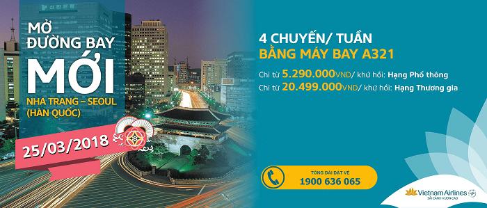 Ưu đãi đường bay mới Nha Trang – Seoul chỉ từ 5,2 triệu đồng cùng Vietnam Airlines