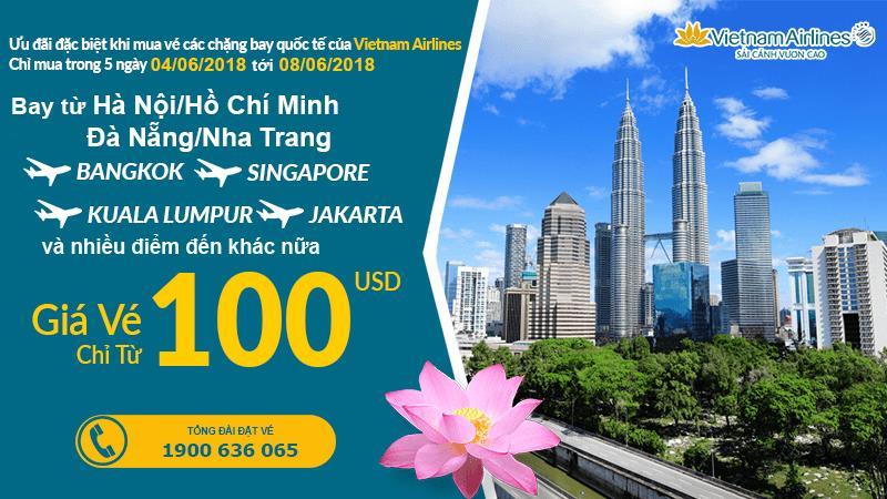 Vietnam Airlines mở bán vé khứ hồi bay quốc tế chỉ từ 100 USD siểu rẻ