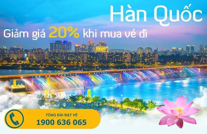 Ưu đãi từ Vietnam Airlines giảm 20% vé máy bay đi Hàn Quốc