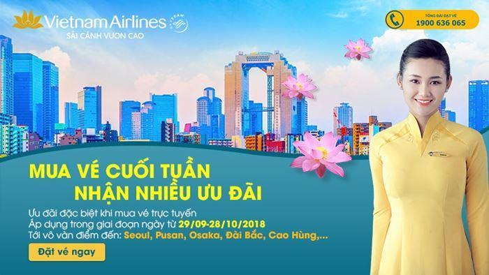 Chương trình khuyến mãi hấp dẫn vào cuối tuần của Vietnam Airlines