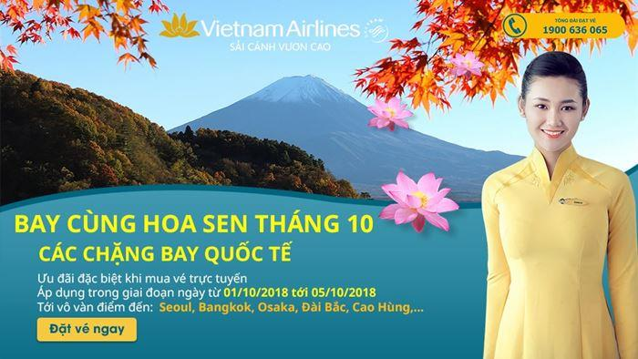 Săn vé máy bay giá rẻ trong 5 ngày vàng từ Vietnam Airlines