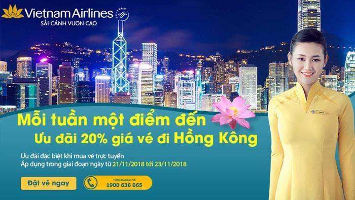 Săn vé máy bay cùng Vietnam Airlines trải nghiệm Hong Kong