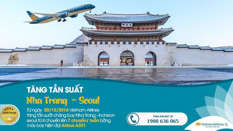 Vietnam Airlines tăng tần suất chuyến bay Nha Trang – Seoul