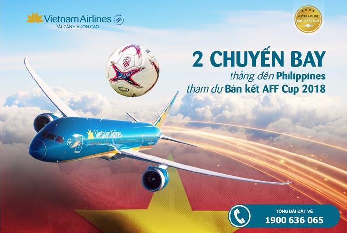 Bố trí 2 chuyến bay thẳng Đến Philippines tham dự bán kết AFF CUP
