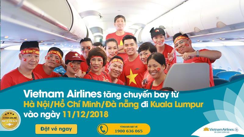 Vietnam Airlines cung ứng hơn 1.100 chỗ trên các chuyến bay Việt Nam - Malaysia