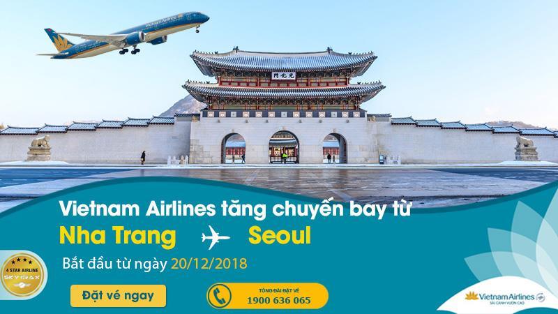 Vietnam Airlines tăng chuyến bay từ Nha Trang đi Seoul Hàn Quốc