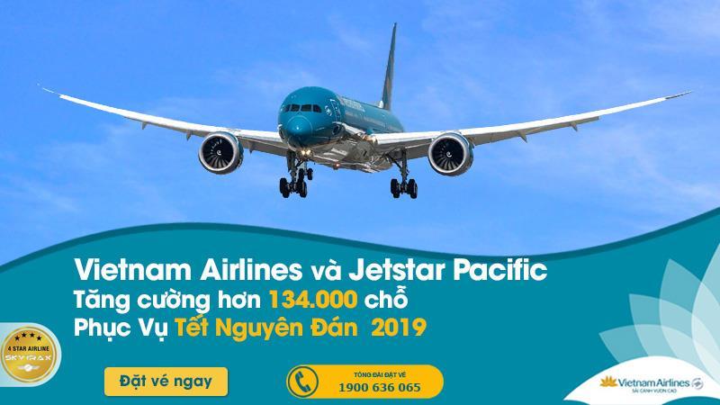 Cao điểm Tết Nguyên Đán 2019 Vietnam Airlines tăng cường hơn 134.000 chỗ phục vụ hành khách