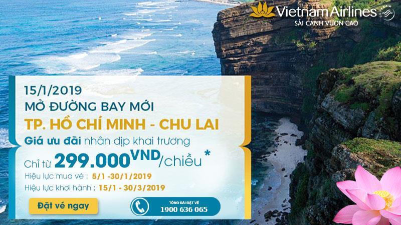 Vietnam Airlines mở đường bay mới Hồ Chí Minh – Chu Lai vé máy bay chỉ 299.000 VNĐ