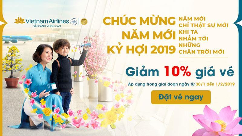 Tiết kiệm 10% giá vé máy bay chinh phục chân trời mới