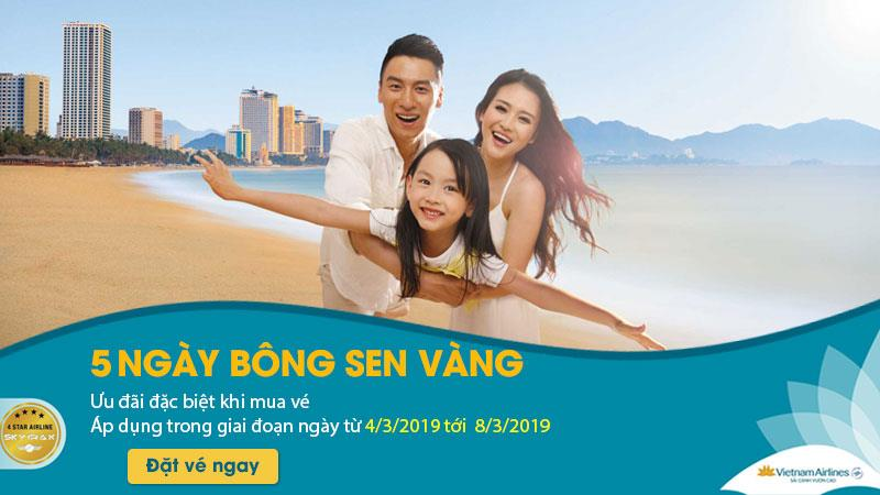 Mua vé máy bay Vietnam Airlines tiết kiệm ngay 20%
