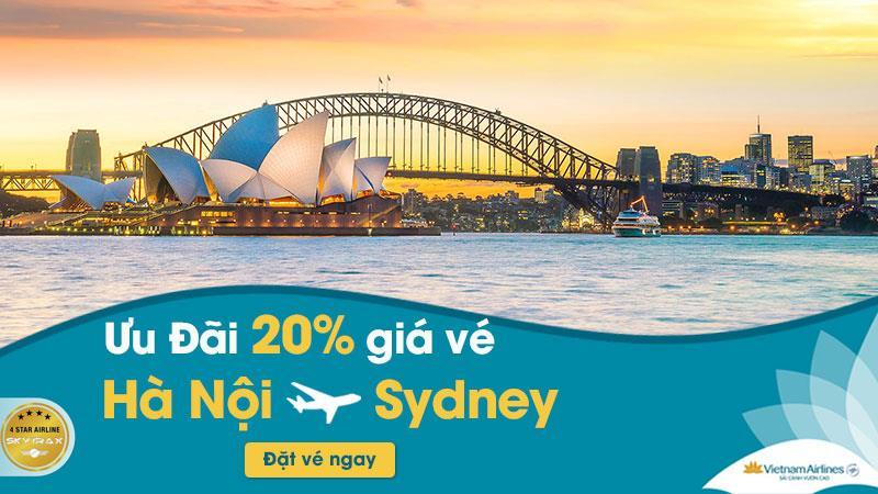 Vietnam Airlines khuyến mãi giảm 20% vé máy bay đi Sydney