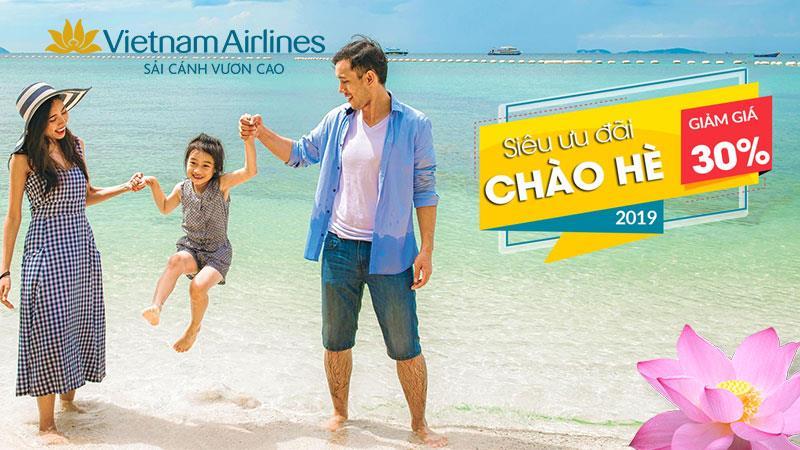 """Khuyến mãi lớn nhất năm từ Vietnam Airlines """"Chào hè 2019"""""""