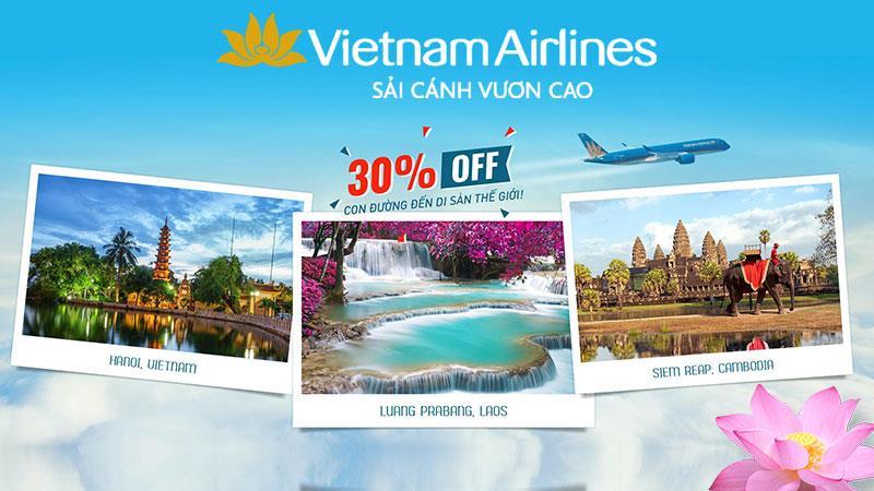 Vé máy bay giảm 30% khám phá di sản thế giới cùng Vietnam Airlines