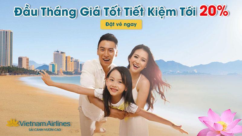 Khuyến mãi chào tháng 4 từ Vietnam Airlines giảm 20% giá vé máy bay