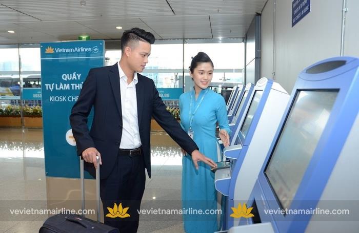 Vietnam Airlines bổ sung dịch vụ kiosk check in tại các sân bay quốc tế