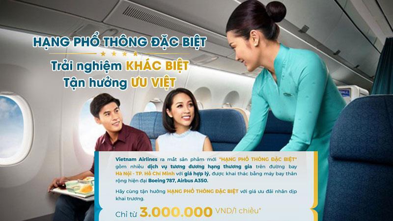 Vietnam Airlines đem đến trải nghiệm khác biệt với hạng phổ thông Đặc biệt