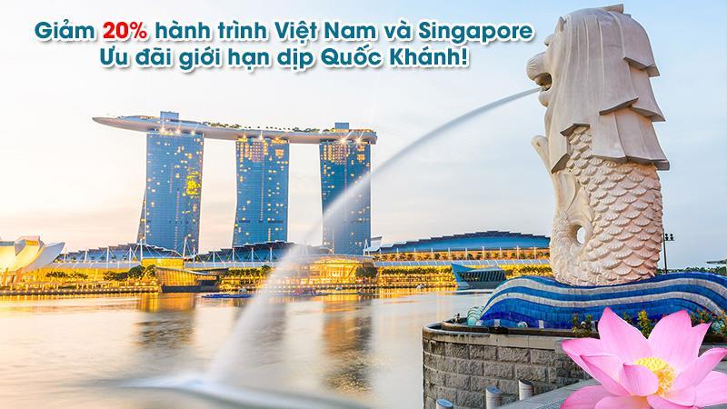 Khuyến mãi giảm 20% cùng Vietnam Airlines trải nghiệm Quốc khánh Singapore