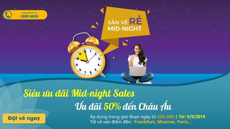 Siêu khuyến mãi Mid- night Sales săn vé rẻ cùng Vietnam Airlines