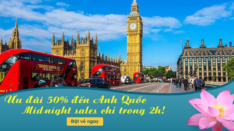 Vietnam Airlines giảm 50% giá vé máy bay đi London